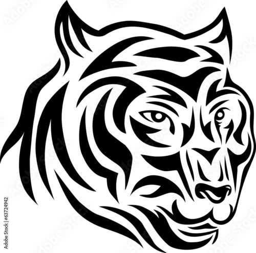 Tiger face tribal
