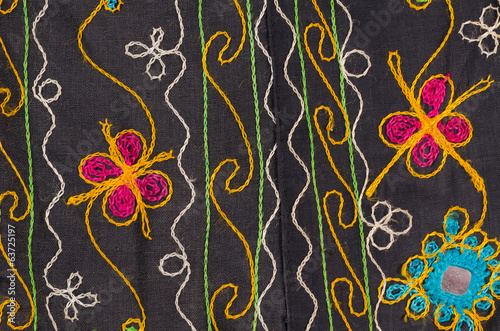 Fabric with floral motives