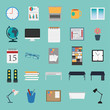 vector of office stuff icon set