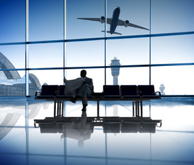 Businessman Waiting At  Airport