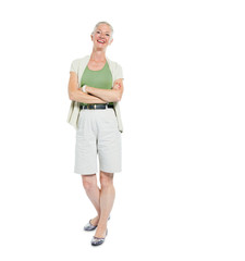 Confident Mature Woman Standing with Arms Crossed