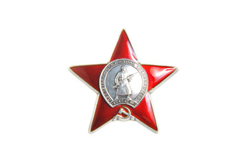 Order of Red star isolated on white