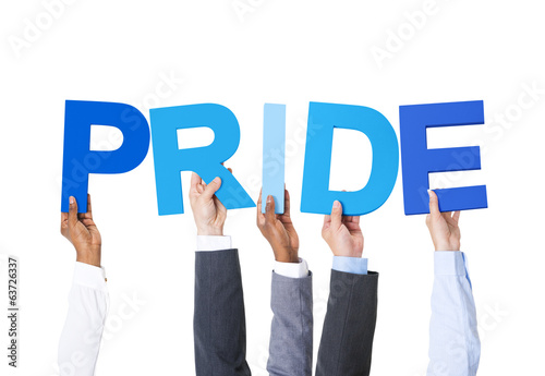Multiethnic Business People Holding Pride