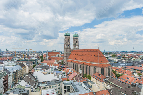 canvas print picture Frauenkirche, the cathedral of Munich, Germany