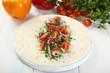 tortilla wrap con verdure
