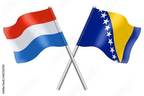 Flags: Luxembourg and Bosnia-Herzegovina