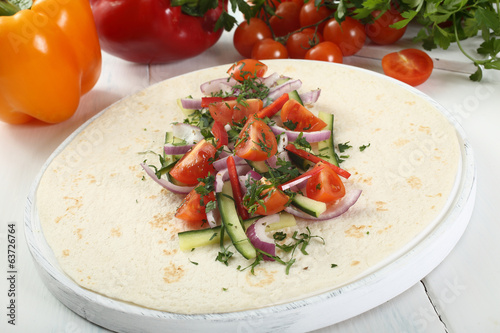 tortilla wrap vegetariana