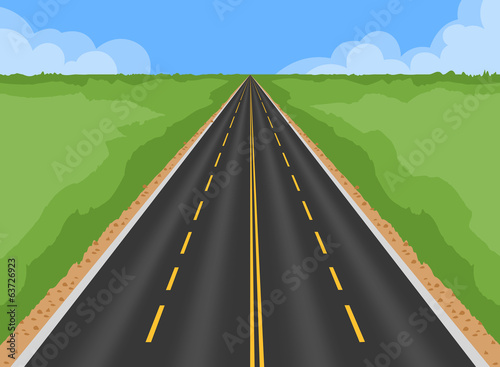 Superhighway landscape nature background