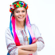 young woman  in the national Ukrainian costume