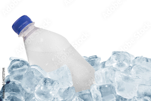 bottle in ice