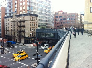 Mirador en el High Line, Manhattan