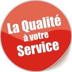 étiquette la qualité à votre service