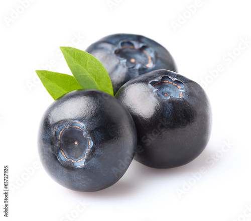 Blueberry in closeup