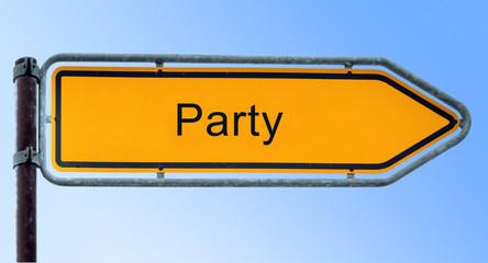 Strassenschild 6 - Party