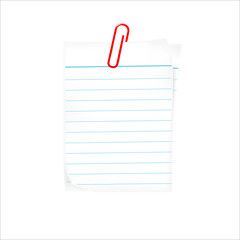 text box with paper clip