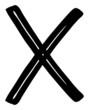 Auswahl: schwarzes Kreuz....