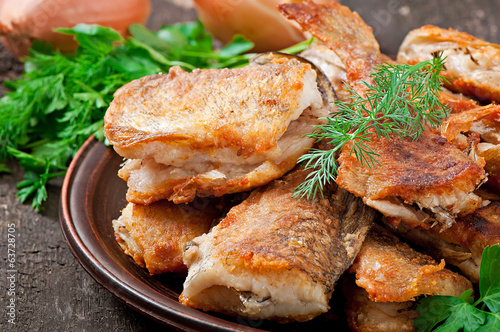 Fish dish - fried fish and herbs