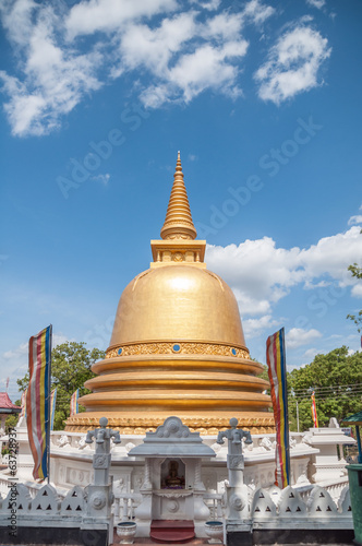 Golden stupa at Golden Temple Dambulla, Sri Lanka