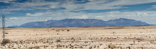 Panorama of the Namib stone desert