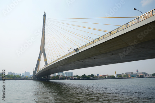 Rama VIII bridge over the Chao Praya river in Bangkok, Thailand.