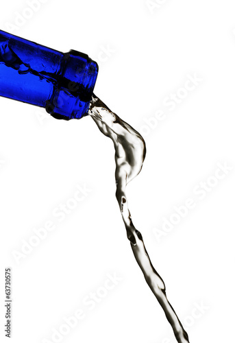 blue pouring water