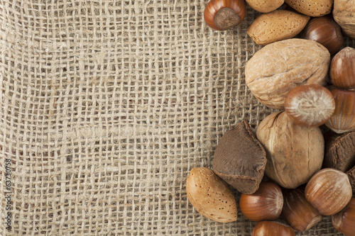 Mixed Nuts and Burlap