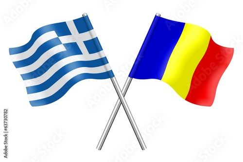 Flags : Greece and Romania