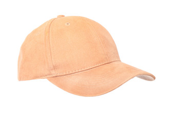 Tan Baseball Cap in position for easy face insert.