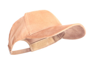Beige Baseball Cap in position for easy face insert.