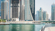 Panoramic view of Dubai Marina.