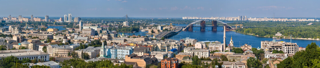 Panorama of Kiev with the Dnieper river - Ukraine