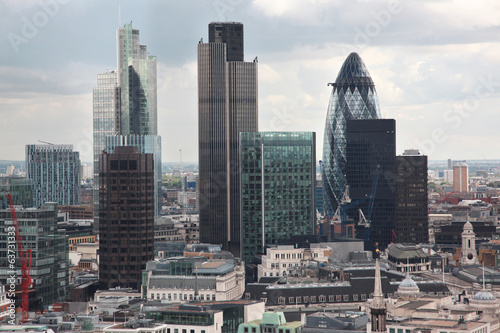 Famous skyscrapers of London's financial district