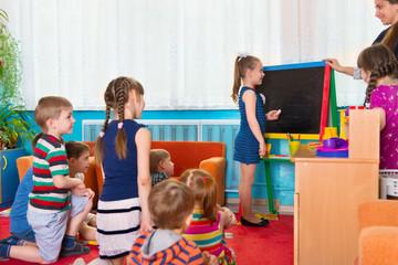 Lesson at kindergarten