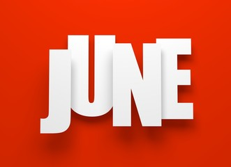 June on red