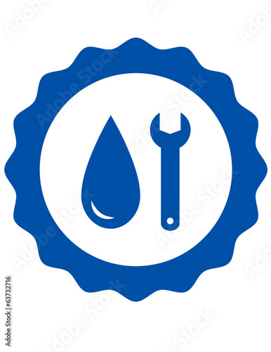 symbol of plumbing with water drop