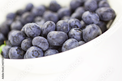 Blueberries in a bowl, closeup