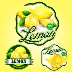 lemon badge and stickers