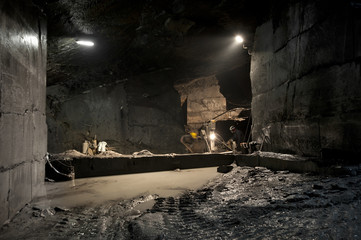 a mine of slate near Genoa, Fontanabuona Valley