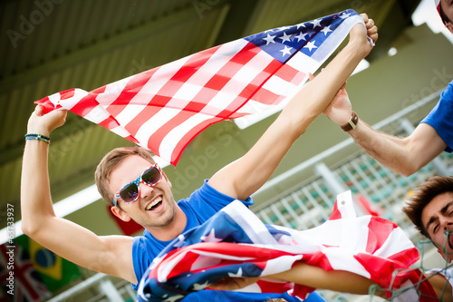american supporter at the stadium