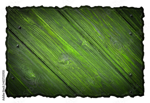 blank wooden signboard, isolated on white background