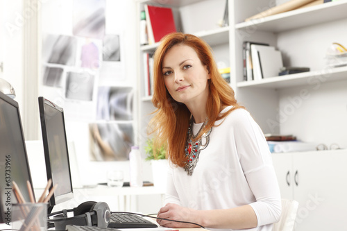 Portait of modern businesswoman