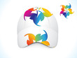 abstract colorful cap template