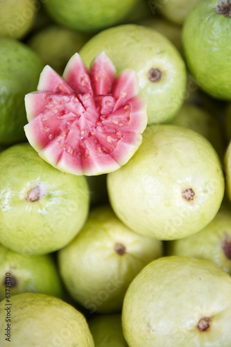 Fresh Cut Guava Goiaba at Brazilian Farmers Market