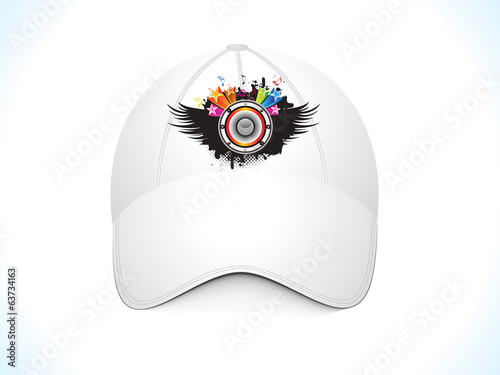 abstract musical cap
