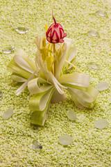 Deko Blume aus Lauch und Radieschen