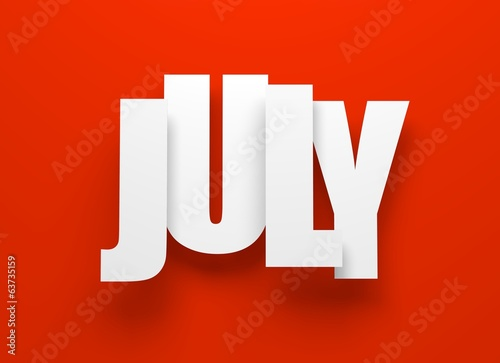 July on red