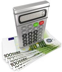 Taschenrechner Geldscheine