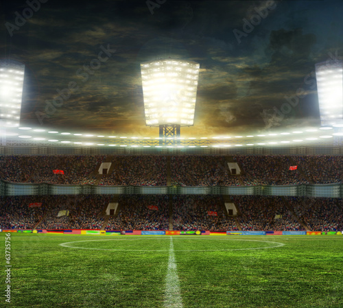 canvas print picture Stadium for sports and concerts empty on a sunny day