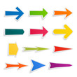 Set of colorful arrows