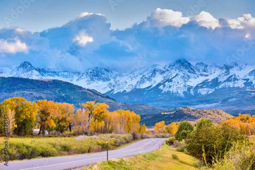 Foto op Aluminium Meer Autumn in Colorado